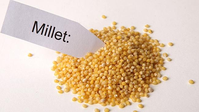 millet with sign